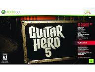 北米版 GUITAR HERO5 Guitar Bundle[専用コントローラー同梱] (状態:箱・ギター状態難/ネックストラップ欠品)