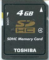 SDカード 4GB 輸入品海外パッケージ