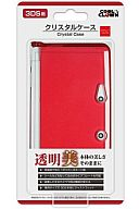 3DS用 クリスタルケース (クリアレッド) [デイテル製]