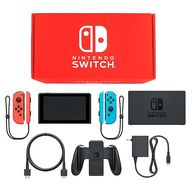 Nintendo Switch本体 カラーカスタマイズ /Joy-Con(L)ネオンレッド(R)ネオンブルー/Joy-Conストラップ(L)ネオンレッド(R)ネオンブルー