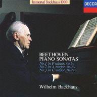 バックハウス(ヴィルヘルム) / ベートーヴェン:ピアノ・ソナタ第1・2・3番(限定盤)