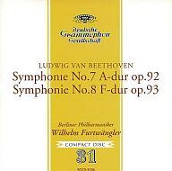フルトヴェングラー(指揮) / ベートーヴェン:交響曲第7番&第8番