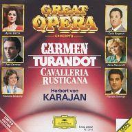 カラヤン指揮 他 / オペラ・ベスト 歌劇<<カルメン>><<トゥーランドット>><<カレヴァリア・>>