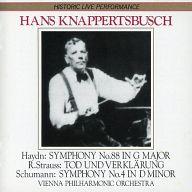ハンス・クナッパーツブッシュ指揮 ウィーン・フィルハーモニー管弦楽団 / ハイドン:交響曲第88番 シューマン:交響曲第4番 他