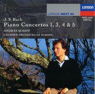 アンドラーシュ・シフ(指揮&Pf) ヨーロッパ室内管弦楽団 / バッハ:ピアノ協奏曲 第1・3・4・5番
