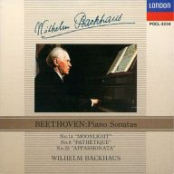 ヴィルヘルム・バックハウス / ベートーヴェン:ピアノ・ソナタ「月光」「悲愴」「熱情」