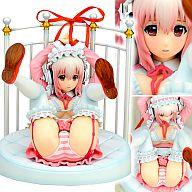 ニトロスーパーソニックイメージキャラクター すーぱーそに子 (Lolita Maid ver.) + ベッド風台座付 (1/6スケール PVC塗装済み完成品フィギュア)