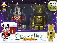 [箱欠品] BE@RBRIC-ベアブリック- 30.ミニーマウス サンタVer.&ゴールドメタリック 「Happyくじ ディズニー Christmas Party BE@RBRIC」 ペアボックス賞