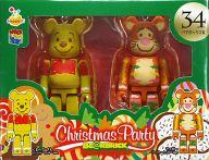 [箱欠品] BE@RBRIC-ベアブリック- 34.プーさん ジンジャークッキーVer.&ティガー ジンジャークッキーVer. 「Happyくじ ディズニー Christmas Party BE@RBRIC」 ペアボックス賞