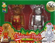 [箱欠品] BE@RBRIC-ベアブリック- 36.ミッキーマウス ジンジャークッキーVer.&シルバーメタリック 「Happyくじ ディズニー Christmas Party BE@RBRIC」 ペアボックス賞