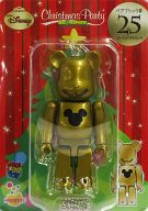[箱欠品] BE@RBRIC-ベアブリック- 25.ゴールドメタリック 「Happyくじ ディズニー Christmas Party BE@RBRIC」 ベアブリック賞