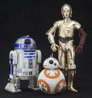 ARTFX+ �X�^�[�E�E�H�[�Y/�t�H�[�X�̊o�� R2-D2&C-3PO with BB-8