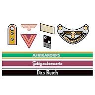 1/35 ドイツ兵階級章デカールセット(アフリカ軍団・武装親衛隊) [12641]