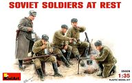1/35 ソビエト砲兵 休憩シーン フィギュアセット 5体 「WWII ミリタリーミニチュアシリーズ」 [35028]