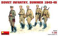 1/35 ソビエト歩兵(夏服1943-1945) フィギュアセット 5体 「WWII ミリタリーミニチュアシリーズ」 [35044]