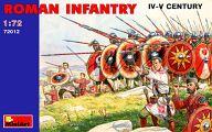 1/72ローマ歩兵 (3-4世紀) フィギュアセット 「中世の騎士シリーズ」 [72012]