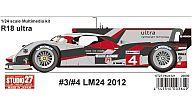 1/24 R18 ultra #3/#4 LM24 2012 レジン製組み立てキット [ST27-FK24121]