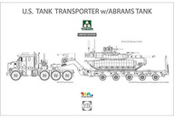 1/72 米軍 M1070 & M1000 70トン 戦車運搬車w/M1A2 SEP エイブラムス TUSKII 主力戦車 初回限定生産版 [TKO5002X]