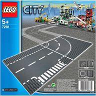 LEGO ロードプレート T字路+カーブ(2枚入り) 「レゴ シティ」 7281