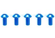 ラジコン用 3×6mm ハイグレードアルミ六角丸ビス(ブルー・5本) 「TRFシリーズ No.227」 [42327]