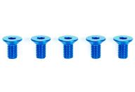 ラジコン用 3×6mm ハイグレードアルミ六角皿ビス(ブルー・5本) 「TRFシリーズ No.228」 [42328]