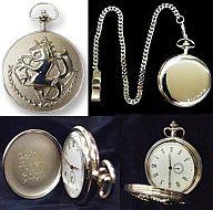 エドの懐中時計 「鋼の錬金術師」 クオーツ式 真鍮製