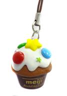 カップケーキ(明治ミルクチョコレート) デコチョコチャームストラップ 「明治チョコレート」 セブンイレブン限定