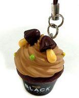 カップケーキ(明治ブラックチョコレート) デコチョコチャームストラップ 「明治チョコレート」 セブンイレブン限定