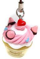 カップケーキ(明治ホワイトチョコレート) デコチョコチャームストラップ 「明治チョコレート」 セブンイレブン限定