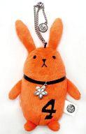 ツキウサ。(4月/オレンジ) ぬいぐるみキーホルダー 「ツキウタ。」