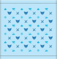モノガラ ハンドタオル(ブルー&ブルー) 「ドラゴンクエスト」