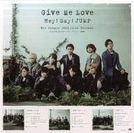 Hey! Say! JUMP 販促スタンドPOP 「CD Give Me Love」