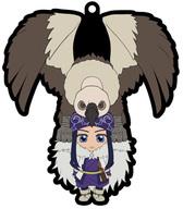 伝説の巨鳥onアシリパ きゃらいど ラバーストラップ 「ゴールデンカムイ」