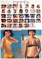 両面ポスター(四つ折) ツイスト/石野真子&榊原郁恵 月刊明星1979年9月号付録
