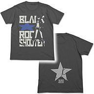 BRSタイポグラフィTシャツ スミ サイズL 「ブラック★ロックシューター」