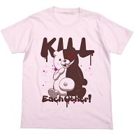 モノクマ殺しあえ!Tシャツ ライトピンク XSサイズ 「ダンガンロンパ 希望の学園と絶望の高校生 THE ANIMATION」