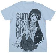 深水透子 Tシャツ ライトブルー Lサイズ 「グラスリップ」