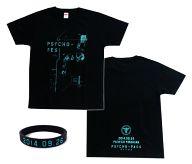PSYCHO-PASS サイコパス オリジナルTシャツ ブラック Lサイズ +ラバーリストバンド 「PSYCHO-FES サイコフェス」 チケット特典