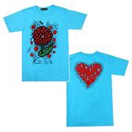 草間彌生×大野智(嵐)デザイン チャリTシャツ ブルー Sサイズ 「24時間テレビ36 (2013年)」