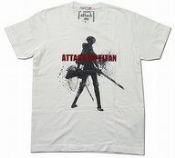 [破損品] リヴァイ グラフィックTシャツ ホワイト Sサイズ 「進撃の巨人×UT」