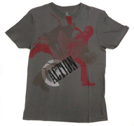 """B'z Tシャツ グレー Sサイズ 「B'z LIVE-GYM 2008 """"ACTION""""」"""