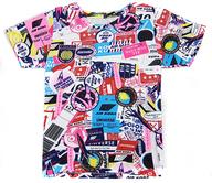 倖田來未 UNIVERSE Tシャツ ピンク×ブルー レディースサイズ 「KODA KUMI LIVE TOUR 2010 ~UNIVERSE~」