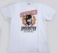 "GENERATIONS ツアーTシャツ ホワイト Lサイズ 「GENERATIONS LIVE TOUR 2016 ""SPEEDSTER""」"