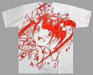 古川未鈴 BIG-Tシャツ(パーリー柄発泡プリント) ホワイト×赤 XXLサイズ 「MIKIO SAKABE×でんぱ組.inc×愛☆まどんな」