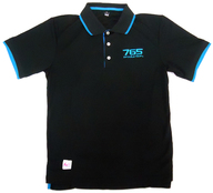 CHIHAYA model(如月千早) スポーツポロシャツ(半袖) ブラック×ブルー Mサイズ 「アイドルマスター」