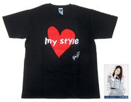 横山結衣(AKB48) 生誕記念Tシャツ&生写真セット ブラック Lサイズ 2018年2月度グッズ