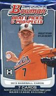 【 パック 】MLB 2012 BOWMAN DRAFT PICKS & PROSPECTS HOBBY MLB公式ベースボールカード
