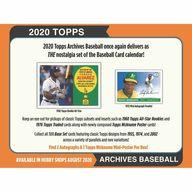 【BOX】MLB 2020 TOPPS ARCHIVES BASEBALL トップス社「アーカイブス」ホビー版MLB公式ベースボールカード
