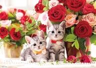 子猫とローズタイム 「PRETTY PET」 ジグソーパズル 600ピース [P66-115]