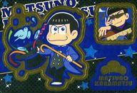 No.02 カラ松 描き下ろしキャラクターシール(マジシャンおそ松さん/キラ) 「おそ松さん シールウエハース その2」